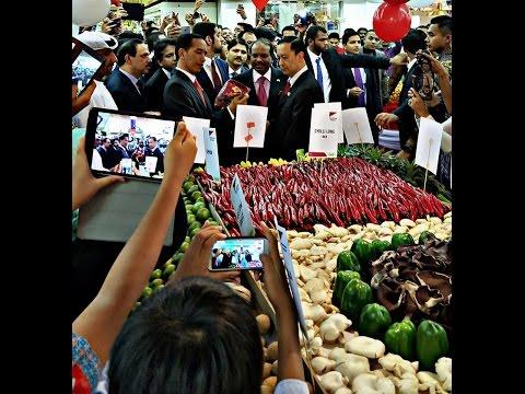 Kegiatan presiden jokowi di Abu Dhabi UAE blusukan ke supermarket (1)