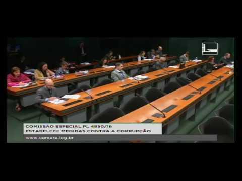 PL 4850/16 - ESTABELECE MEDIDAS CONTRA A CORRUPÇÃO - Reunião Deliberativa - 24/08/2016 - 09:39