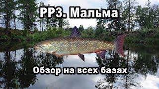 русская Рыбалка 3. Мальма. Обзор на всех базах
