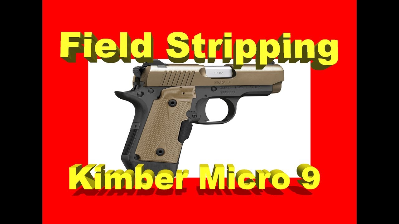 How To Disassemble Clean And Reassemble The Kimber Micro 9 Youtube 1911 Parts Diagram Search