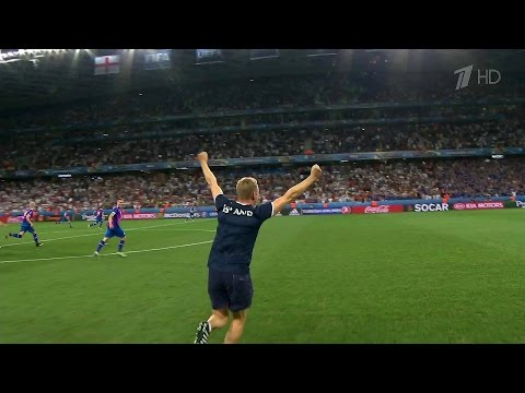 На чемпионате Европы по футболу сборная Исландии победила Англию и вышла в четвертьфинал