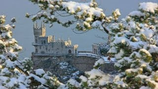 видео Фото - Зима в Крыму. Ай-Петри, Ангарский перевал, Нижнее плато Чатыр-Дага.