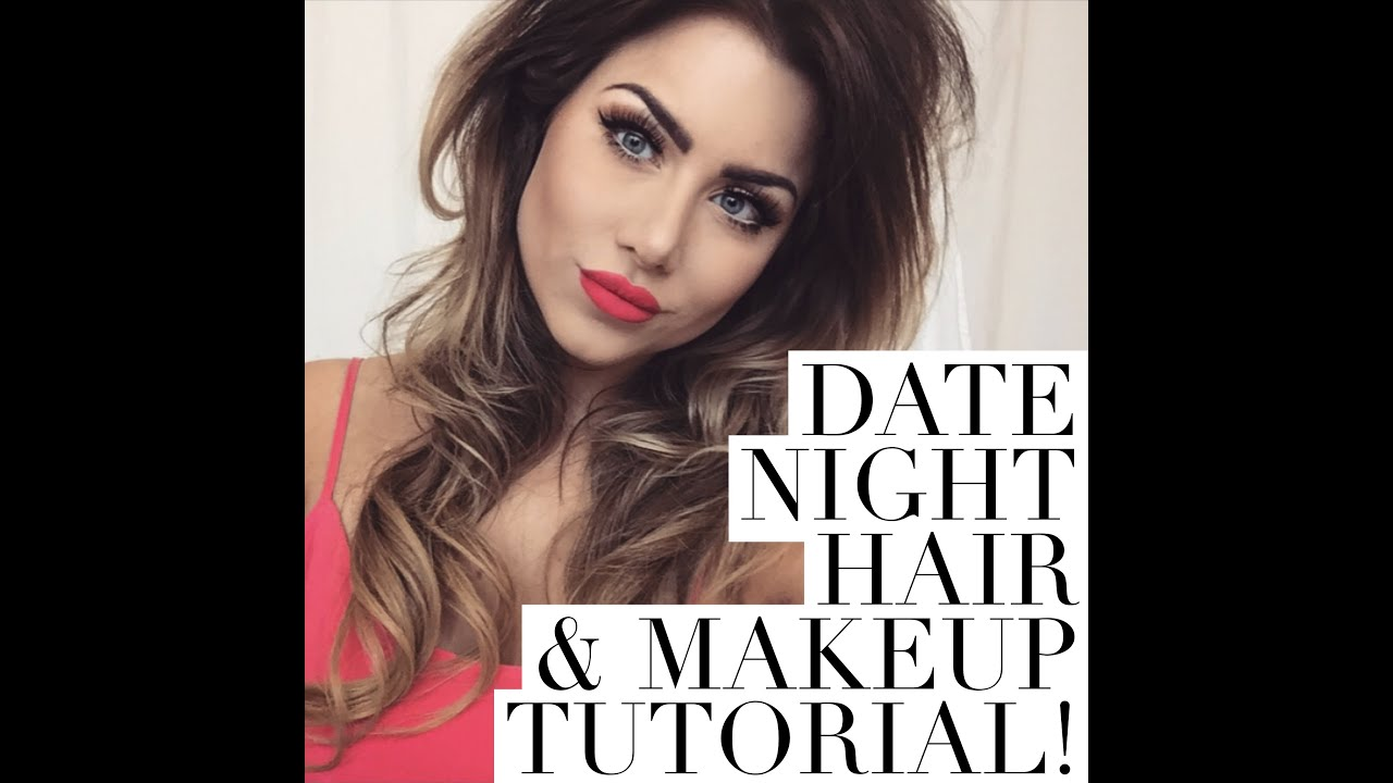 DATE NIGHT hair & makeup tutorial | beeisforbeeauty - YouTube
