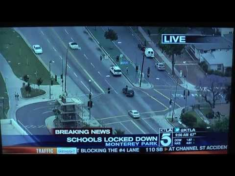 East Los Angeles College lock down on breaking news in Monterey Park on May 16, 2013