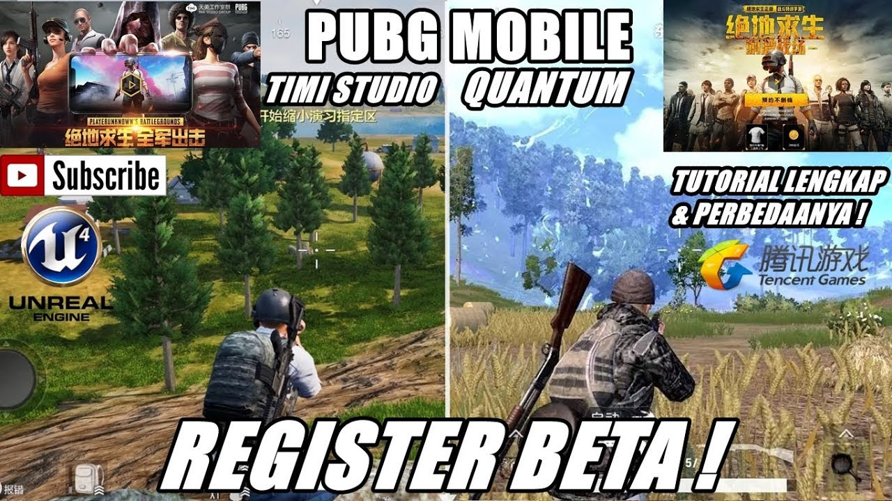 Cara Register PUBG Mobile Tencent Versi Timi Dan Quantum