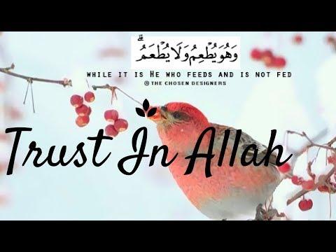 TRUSTING IN ALLAH IN HARD TIMES