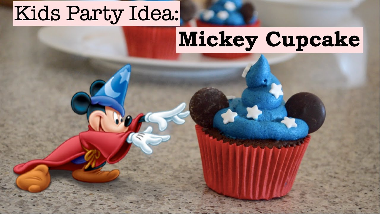 Party Food Recipe for Kids Mickey Mouse Fantasia Cupcakes YouTube