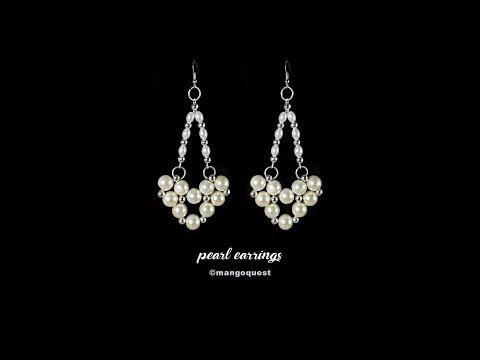Pearl Earrings Tutorial Fashion Jewelry DIY