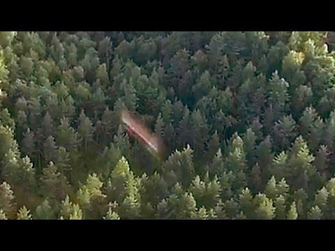 UFO filmed by drone НЛО с дрона