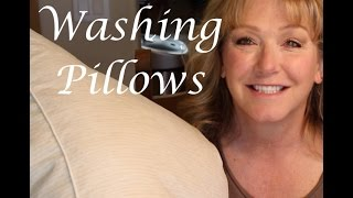 Yes! You CAN wash pillows