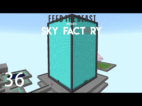 Sky Factory 3 w/ xB - MAX SIZE EXTREME REACTOR [E36] (Minecraft Modded Sky Block)