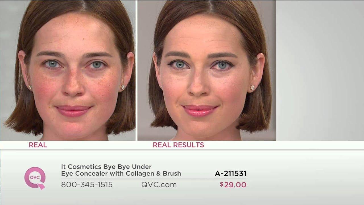 It Cosmetics Bye Bye Under Eye Concealer with Collagen & Brush ...
