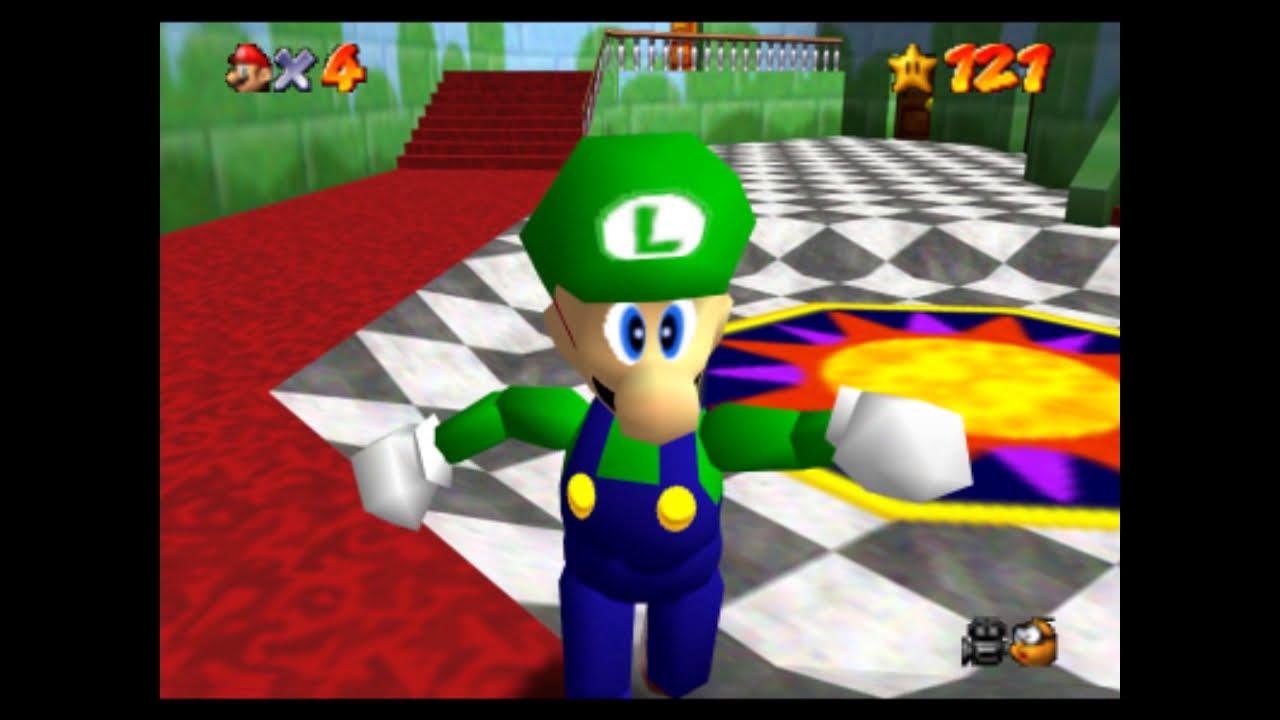 Como desbloquear a Luigi en Super Mario 64 - YouTube