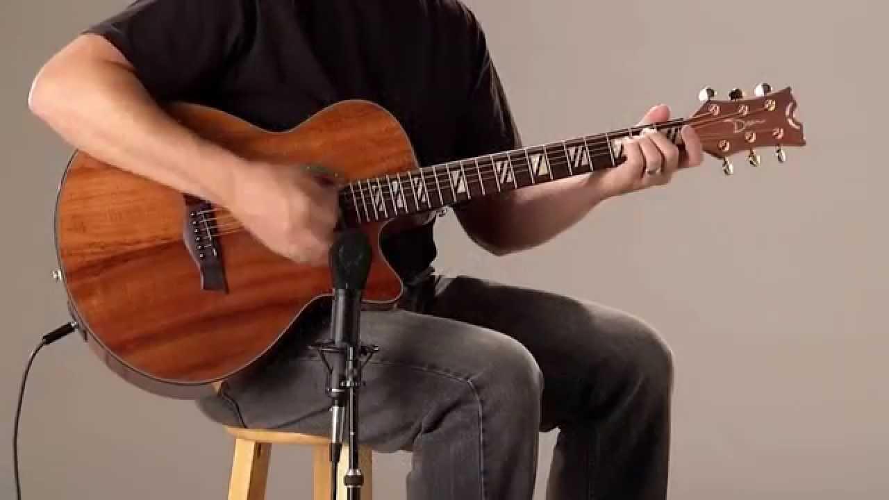 Dean Guitars Performer Koa Acoustic Electric Youtube
