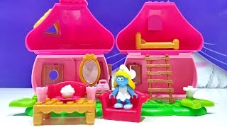 Mega Bloks Smurf Smurfettes House Building Playset 10751 Small Blocks Girls