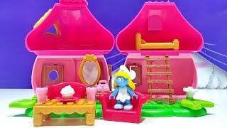 Mega Bloks Smurf Smurfettes House Building Playset 10751 Small Blocks Girls