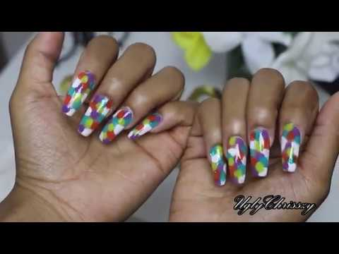 #UGLYNAILS how to design your coffin nails summer look | UglyChrisszy