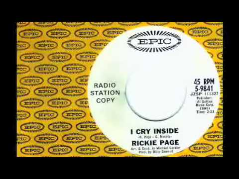 Rickie Page - I Cry Inside - Michael Z. Gordon