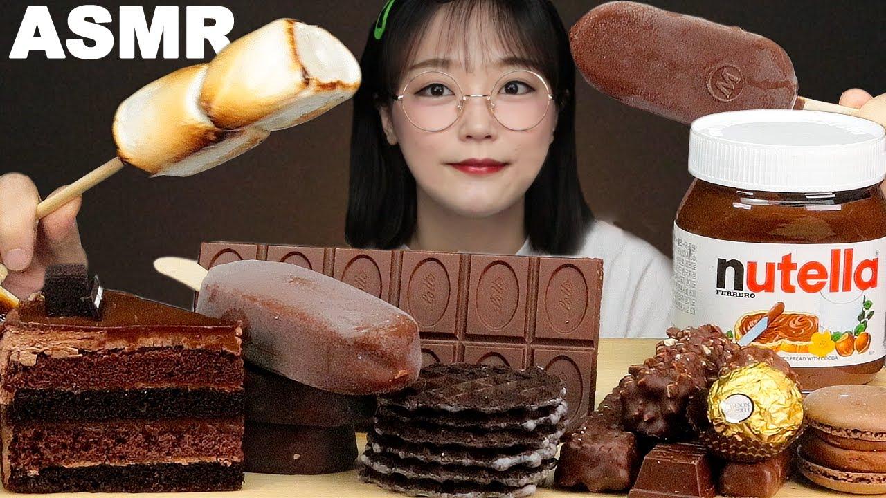ASMR YEMEK Çikolata & Marşmelov🍫 | CHOCOLATE, MARSHMALLOWS, NUTELLA, ICE CREAM, CAKE MUKBANG