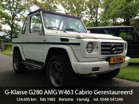 mercedes benz g klasse g280 amg w463 cabrio gerestaureerd. Black Bedroom Furniture Sets. Home Design Ideas