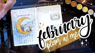 PLAN WITH ME | February 2018 Bullet Journal + January Flip Through