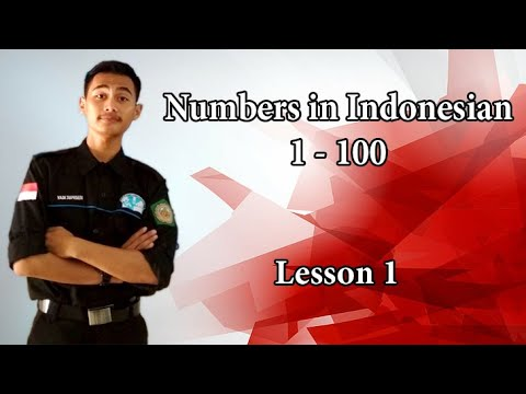 Learning Bahasa Indonesia ~ The Numbers from 1 to 100