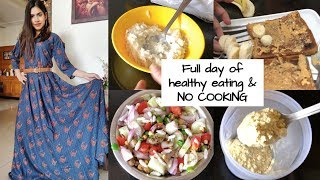 Full day of diet plan for weight loss NO COOKING Meal prep in low budget / hostel diet Lose 5-10 kgs