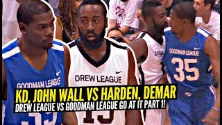 Kevin Durant vs James Harden Gets HEATED! NBA Pros For Drew League vs Goodman League GO AT IT!