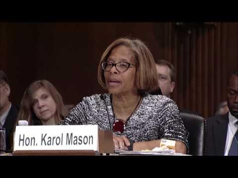 Senator Coons questions Assistant Attorney General Karol Mason on PSOB program