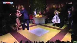 فيديو .. أوباما يرقص التانغو في الأرجنتين