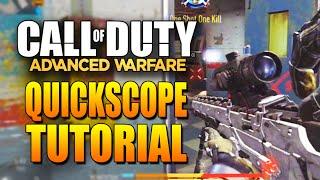 Advanced Warfare Quickscoping Tutorial - Call of Duty Advanced Warfare Sniping & Quickscoping Tips