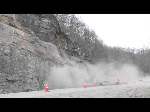 Removing Rocks Along WV 99