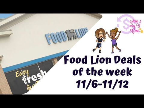 Food Lion Deals of The Week 11/6-11/1/ #foodlion #couponing