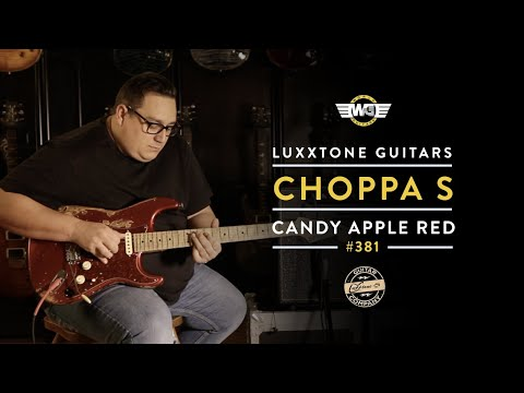 Luxxtone Guitars Choppa S Candy Apple Red #381