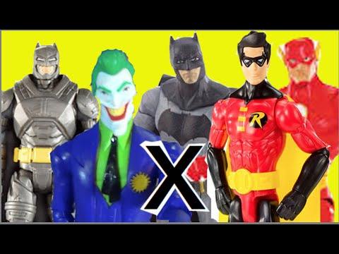 Batman Armadura Coringa Joker X Robin Flash DC Comics Mattel bonecos brinquedos Toys Kids Fun