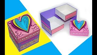How to make a gift box | Gift box making ideas | DIY paper crafts idea | Gift box sealed with hearts