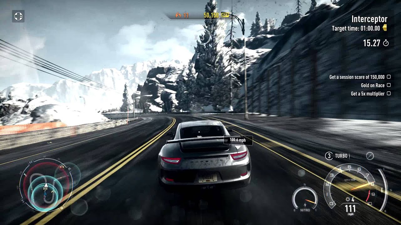 Need For Speed Rivals Porsche 911 Gt3 Youtube