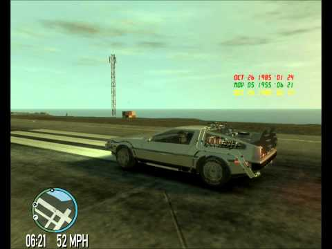 GTA IV - Time Travel Mod(Video 9) + DeLorean Model