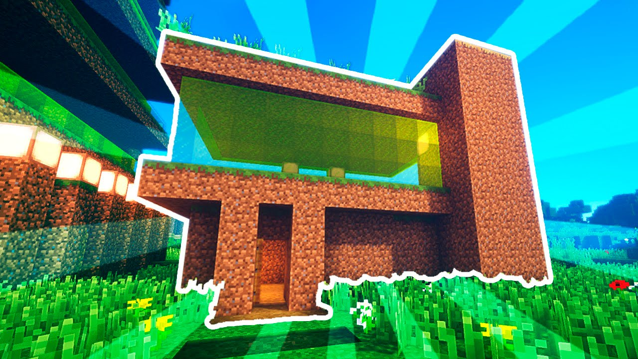 Construyendo con tierra casa moderna simple minecraft for Casa moderna minecraft 0 10 4