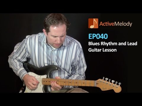 Funk Blues Rhythm and Lead Guitar Lesson -- EP040