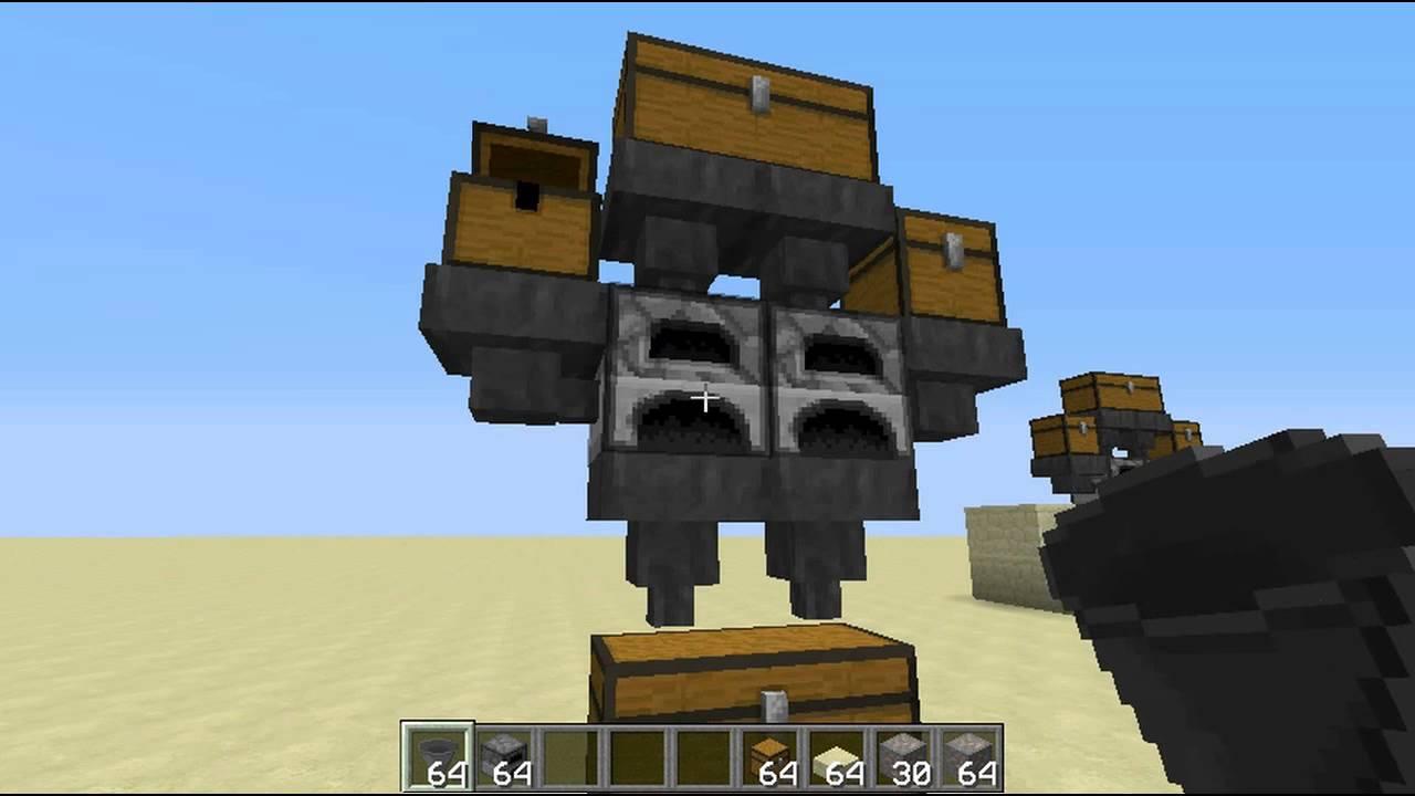 minecraft automatic furnace smelting - YouTube
