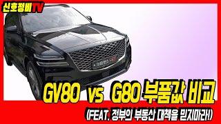 G80 vs GV80 부품값 비교, 비싼 차면 부품값도…