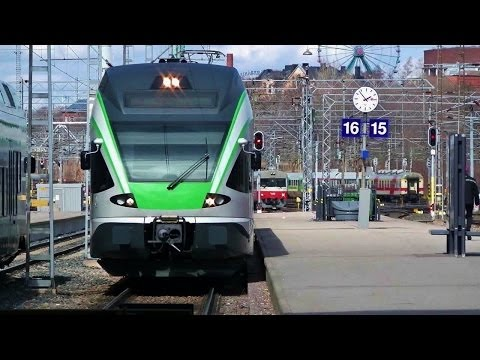 VR Trains in Finland, Helsinki Central railway station - Hel