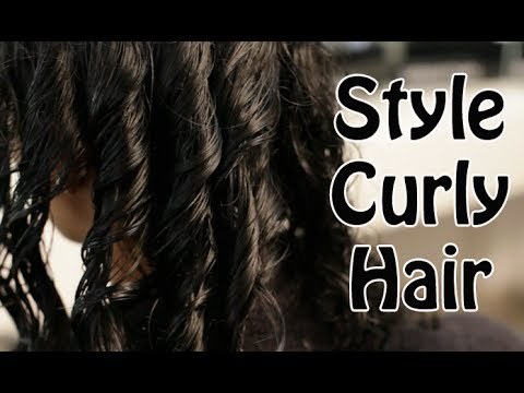 how to style curly hair naturally tamil youtube