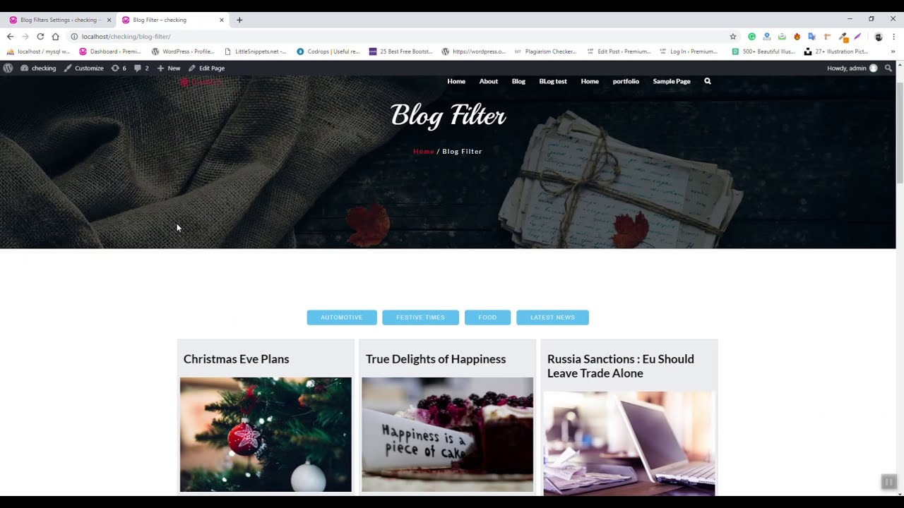 Blog Filter WordPress Plugin - How To Use Blog Filter WordPress Plugin