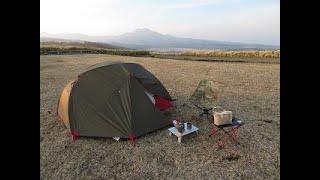 北海道開陽台展望台キャンプサイト[ライダーの聖地]と呼ばれている、道東のキャンプ場