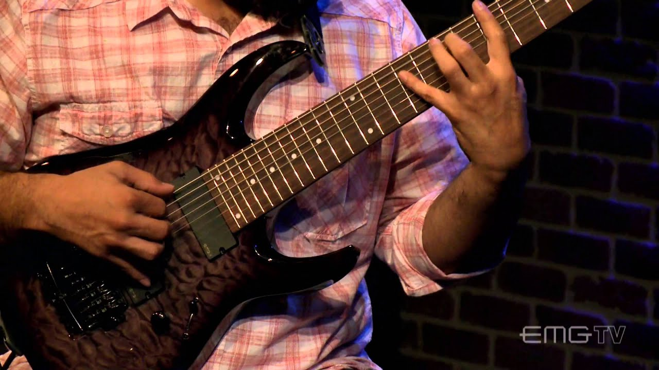 javier reyes of animals as leader play solo 8 string guitar luz