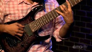 Javier Reyes, of Animals as Leader, play solo 8 String guitar, Luz y Cielo, EMGtv