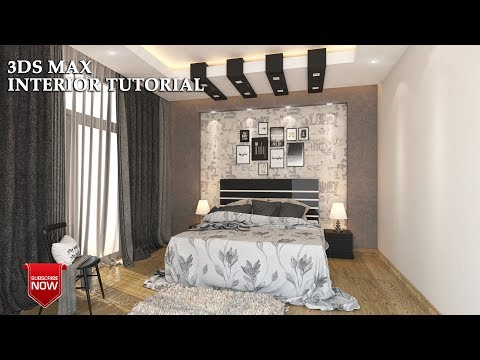 3Ds Max - Bedroom Modeling Tutorial+Vray Rendering