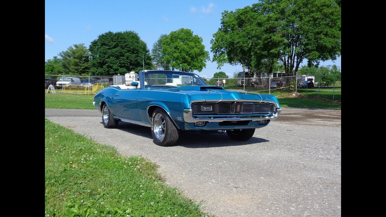 1969 mercury cougar xr7 convertible in aqua 428 engine sound on my car story with lou costabile youtube 1969 mercury cougar xr7 convertible in